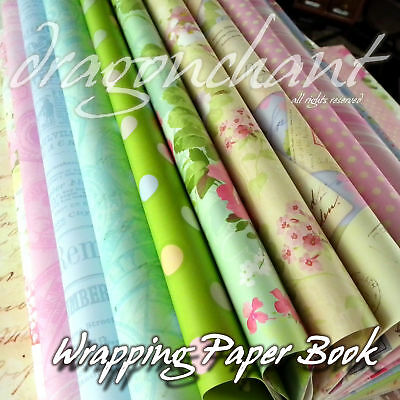Vintage Waterproof Wrapping Paper Book Multi Use Birthday Wedding Gift Wrap 32