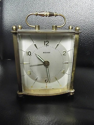 BAYARD CARRIAGE CLOCK  WORKING CONDITION 1960's