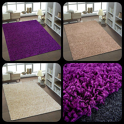 teppich l ufer flokati hochflor shaggy gro rund eckig uni lila beere violett. Black Bedroom Furniture Sets. Home Design Ideas
