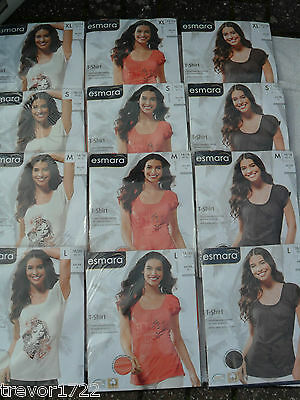 Joblot Womans Clothes Ladies Clothing Esmara Tops Bnwt 12 Items Lovely T-Shirts