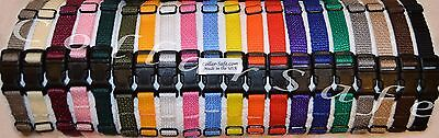 CollarSafe - Set of (20) Nylon Puppy Litter ID Snap Collars Identification Bands