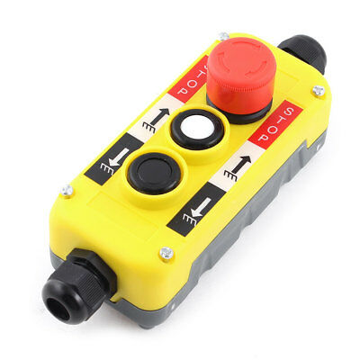 AC 400V Red Emergency Stop Up Down Push Button Crane Switch for 6-11mm Wire