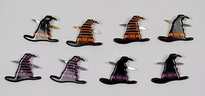BB BRADS WITCHES HATS pk of 8 halloween witch scrapbooking craft split pin