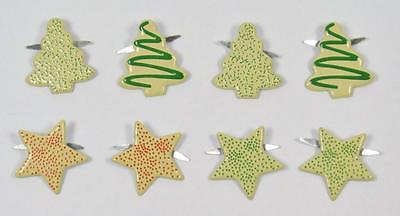 BB BRADS CHRISTMAS COOKIES pk of 8 xmas baking scrapbooking craft split pin