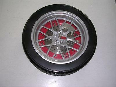 """Neat Unique Large 14"""" 245/40ZR/18 Tire Clock For Garage or """"Cave"""" Works Well"""
