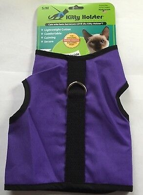 Kitty Holster Cat Harness - Great for Cats or Kitten - Purple 4 Sizes Made USA