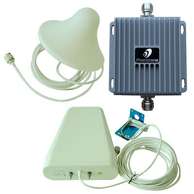 Dual Band 850/2100MHz 3/4G Cell Phone Signal Repeat Kit with 2 antennas + Power