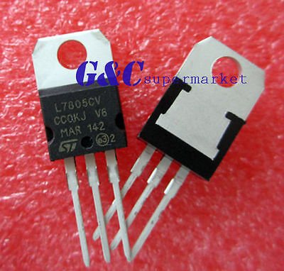 30PCS IC L7805CV L7805 7805 TO-220 Voltage Regulator 5V ST NEW GOOD T26