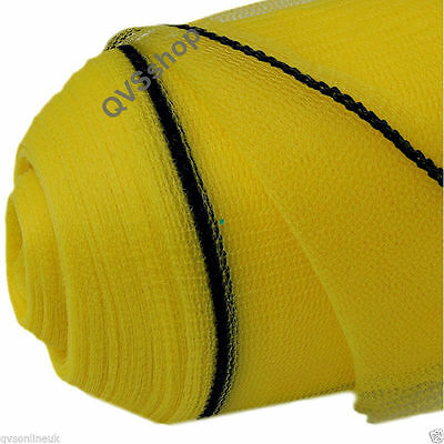 2M X 50M YELLOW GARDEN NETTING Crop/Plant/Seed Bed/Net