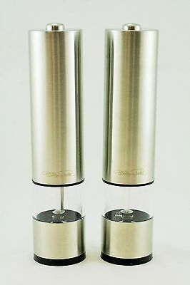 Wolfgang Puck Stainless Steel Battery Power Grinding Mills Pack of 2 WPPMILL0812