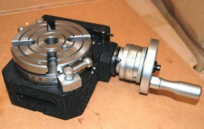 """4"""" / 100 mm PRECISION ROTARY TABLE HV4 FOR MILLING MACHINE 4 SLOT"""