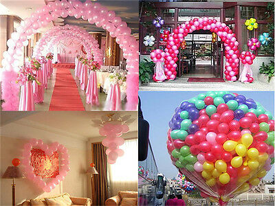 "100 X 10"" Latex Pearlised Balloons Party Wedding Birthday Anniversary Supplies"