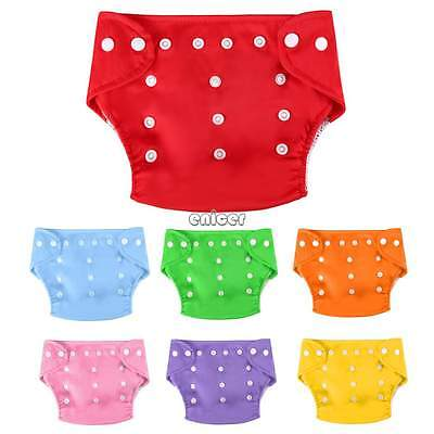Bebé Pañales de tela Reutilizable Ajustable Lavable Pañal Cloth Diapers Nappies