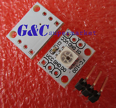 10pcs  One led 5050 RGB LED Driver Board Chainable Board for Arduino M63