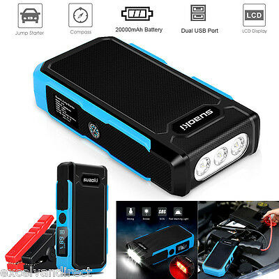 20000mAh 12V 800A Car Auto Jump Starter Pack Booster Battery Charger Power Bank