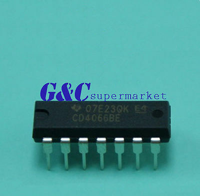 10Pcs Cd4066 Ti Dip-14 Cmos Quad Bilateral Switch New Ic Good Quality