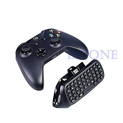 Portable USB 2.4G Wireless Chatpad Message Keyboard fr Xbox One Controller Black