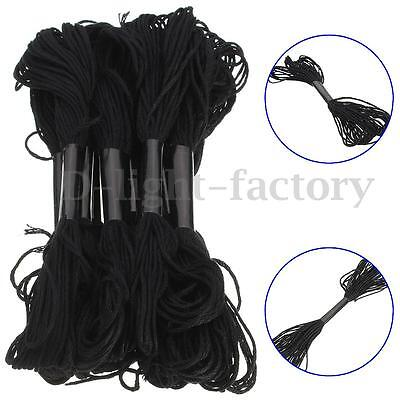 12Pcs Anchor Cross Stitch Cotton Crochet Embroidery Thread Floss Skein New Black