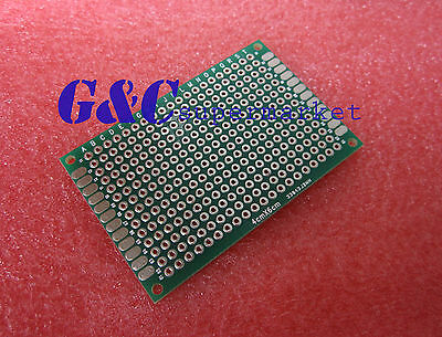 5PCS  Double side Prototype PCB Tinned Universal board 4x6 4*6cm M33
