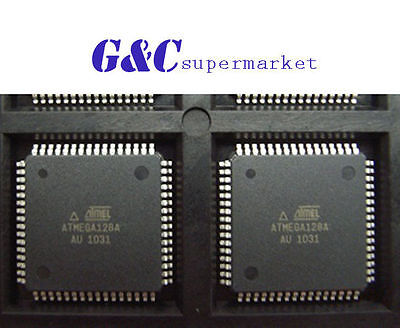 2PCS IC ATMEGA128A-AU QFP-64 8-bit Microcontroller NEW GOOD QUALITY