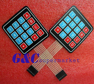 5pcs 4 x 4 Matrix Array 16 Key Membrane Switch Keypad Keyboard GOOD QUALITY M