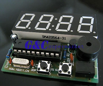 2PCS Electronic Clock Electronic Production Suite 4 Bits C51 DIY Kits M111