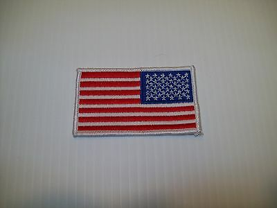 """American Flag Patch Reversed 3 3/8"""" x 2"""""""