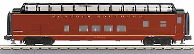 MTH 30-67780, 60' Streamlined ABS Full-Length Vista Dome Car, Norfolk Southern