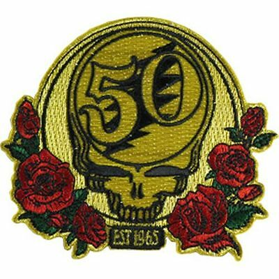 Grateful Dead - 50Th Anniversary - Embroidered Patch - Brand New - Music 4352