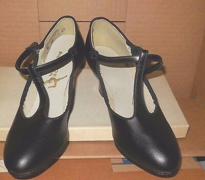 """RUSTY T strap Character Shoes ch/ladies 3508 2"""" heel choir musical theater"""