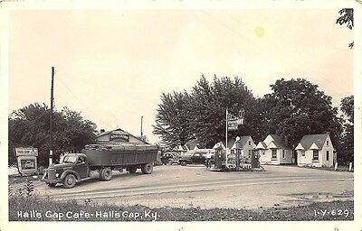 Hall's Gap KY Crown Gas Station Truck Stop Coca Cola Sign Real Photo Postcard