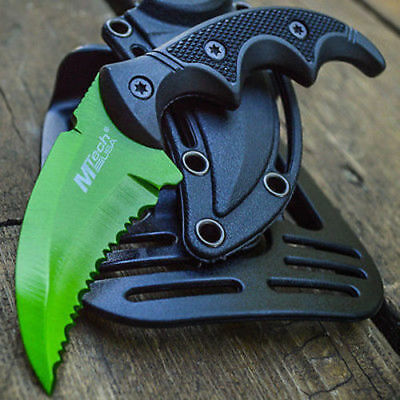 M-Tech Tactical Combat EDC Karambit Claw Fixed Blade Neck Boot Knife Survival