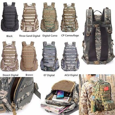 30L Military Army Tactical Molle Backpack Rucksacks Camping Hiking Trekking Bag