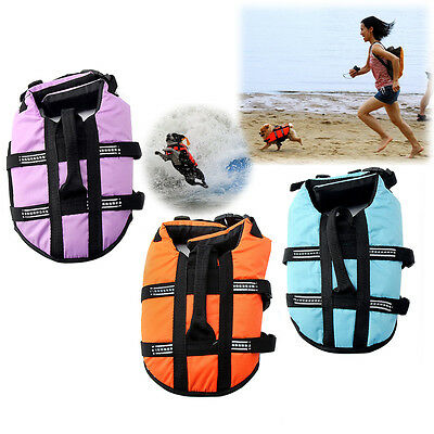Pet Dog Life Preserver Jacket Swim Surf Safety Floatation Vest Saver ALL SIZES