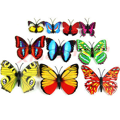 New 12PCS 3D Magnetic Butterfly Room Wall Decoration Fridge Magnets Sticke