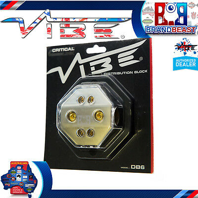 Vibe Db6 Non Fused Power / Ground Distribution Block 2 X 4awg Input + 4 X 8awg