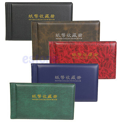 Album Pocket Wallet Currency Paper Money Banknote Collection for 30 Notes Pages