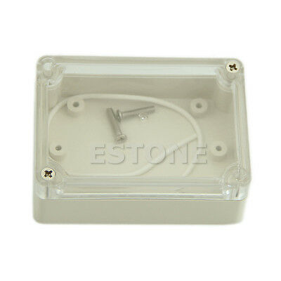 85x58x33mm Waterproof Clear Cover  Project Box Plastic Electronic Enclosure CASE