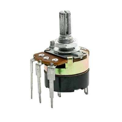 Type B 500K Ohm Top Adjustment Knurled Shaft Taper Pot Potentiometer