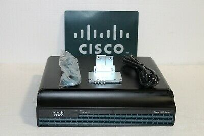 Cisco CISCO1941-SEC/K9 2-Port + 2 EHWIC Slots Gigabit Ethernet Router IP Base MW