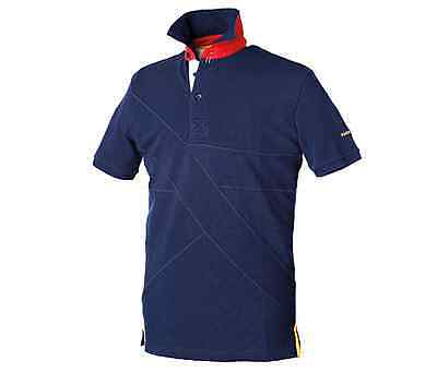 Harry Hall Tiverton Mens Riding Polo Top Shirt - Small - Navy Or Red
