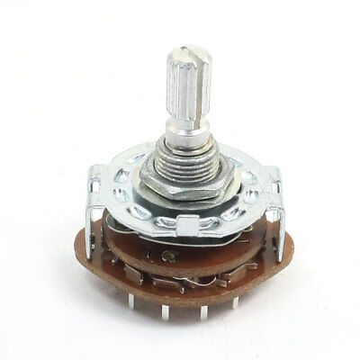 6mm Shaft Dia 4 Pole 3 Position Band Channel Selector Rotary Switch