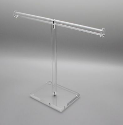 Acrylic Clear T Bar Jewelry Holder Necklace Earring Stand Jewelry Rack Organizer