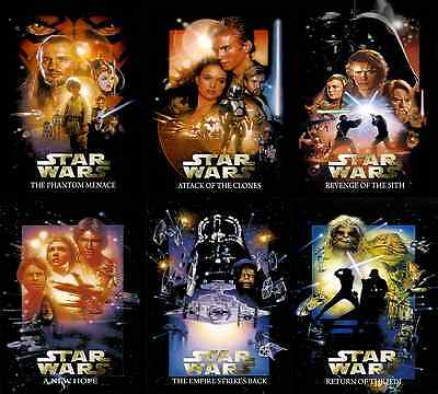 Star Wars™ THE COMPLETE SAGA Movie Poster DREW STRUZAN Cereal Exclusive FULL SET