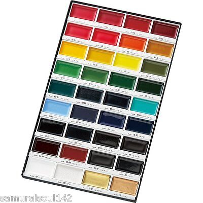 F/S ZIG Kuretake Gansai Tambi Japanese Watercolor Paint 36 Colors set Japan New!