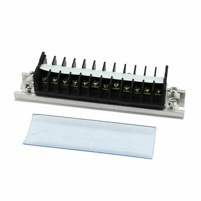 660V 15A 12 Positions Double Row Barrier Block Screw Terminal Strip