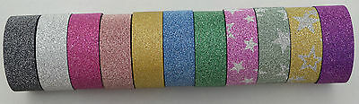5m EASY PEEL GLITTER TAPE SELF ADHESIVE WASHI STICKY PAPER CARDMAKING