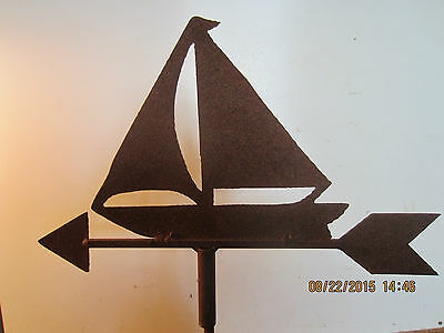 "Nautical, Wrought Iron ""sailboat"" Weathervane"