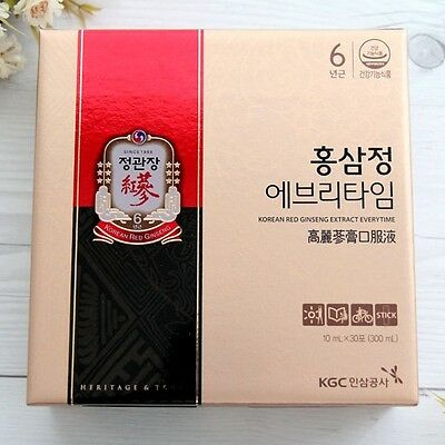 Cheong Kwan Jang EVERYTIME Korean 6 Years Red Ginseng Extract Stick Pouch 30 EA
