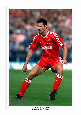 Ian Rush Career Stats Liverpool A4 Print Photo Gift For Him Anfield 2